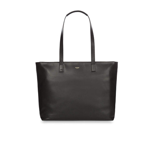 "KNOMO Maddox 15"" Leather Top-Zip Tote"