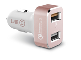LAB.C 2-Port Qualcomm Quick Charge 3.0 Car Charger