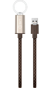 LAB.C Leather MFI Lightning Cable Key Chain 0.25m
