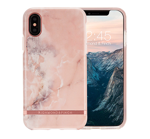 RICHMOND & FINCH Case - Pink Marble / Rose Gold