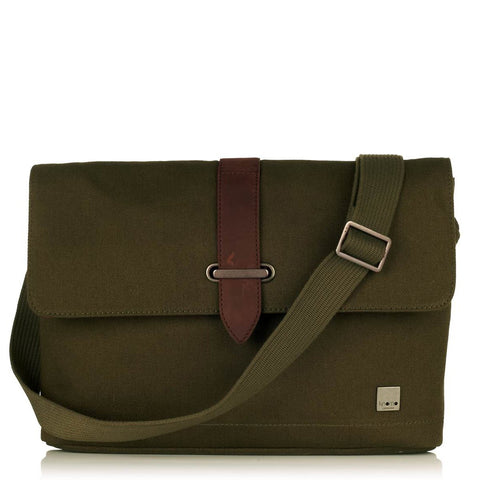"KNOMO Troon 13"" Canvas Messenger Bag"