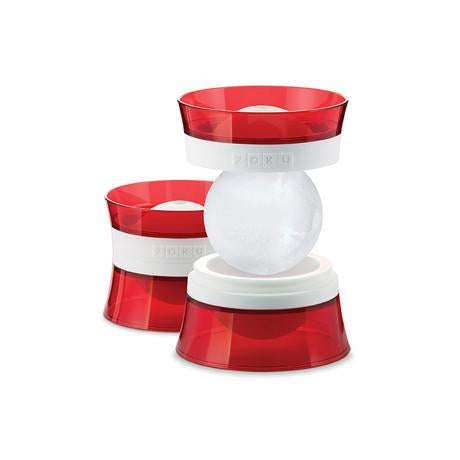 ZOKU Cocktail Ice Ball Molds, Set of 2