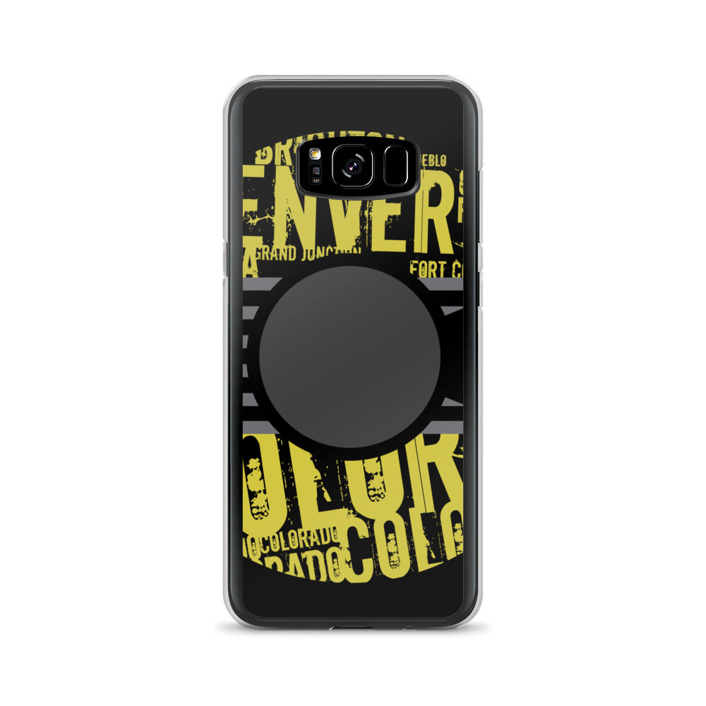 """The City Collection Mustard & Black"" Samsung Case"
