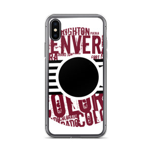 """The City Collection Maroon & Black"" iPhone Case"