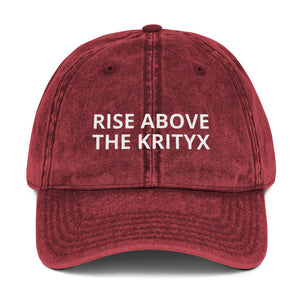 """Rise Above The Krityx"" Vintage Cap"