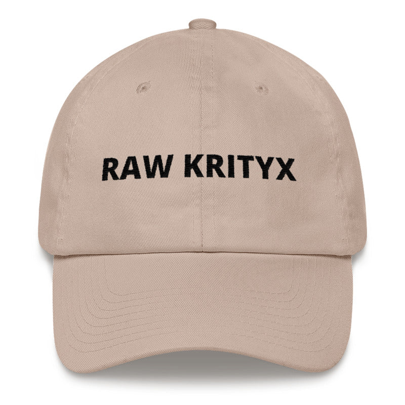 """Less Is More"" Raw Krityx Dad Hat"