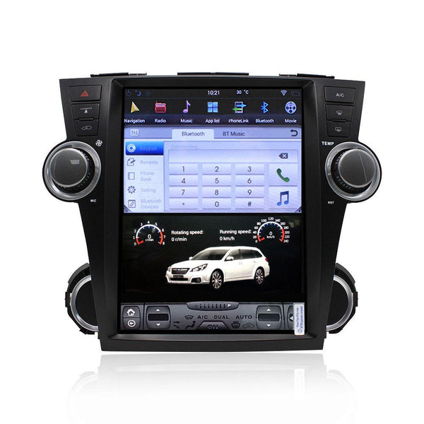 "12.1"" Android Navigation Radio for Toyota Highlander 2009 - 2013"