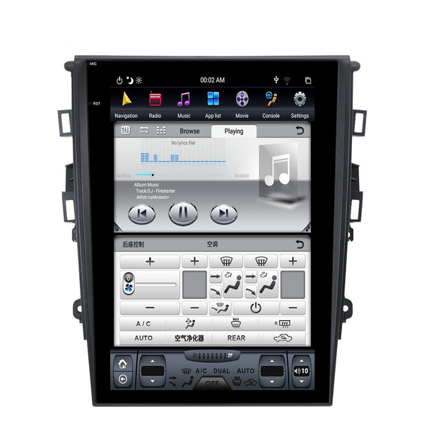 "[PX6 Six-core] 12.1"" Vertical Screen Android Navigation Radio for Ford Fusion Mondeo 2013 - 2017"