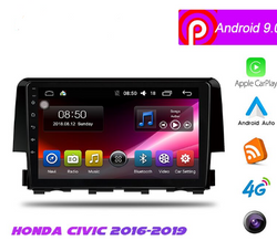 "[Open box]  9"" Android 9 Navigation Radio for Honda Civic 2016 - 2019"