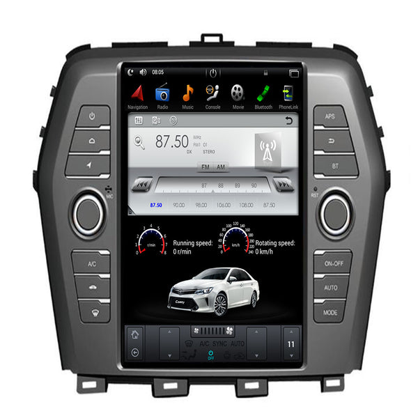 "[ PX6 six-core ] 10.4"" Vertical Screen Android 9.0 Fast boot Navigation Radio for Nissan Maxima 2016 2017"