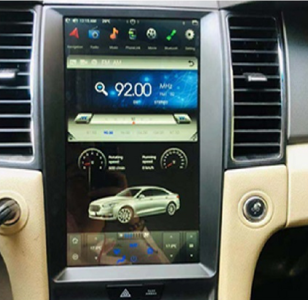 "[ PX6 six-core ] 13.3"" Android 9.0 Fast boot Vertical Screen Navigation Radio for Ford Taurus 2013 - 2019"