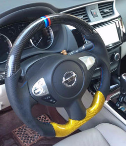 Custom-made Carbon fiber Steering Wheel for 2009 - 2014 Nissan Maxima Color & Design Customizable $50 Back if You Send Your Replaced Steering Wheel To Us