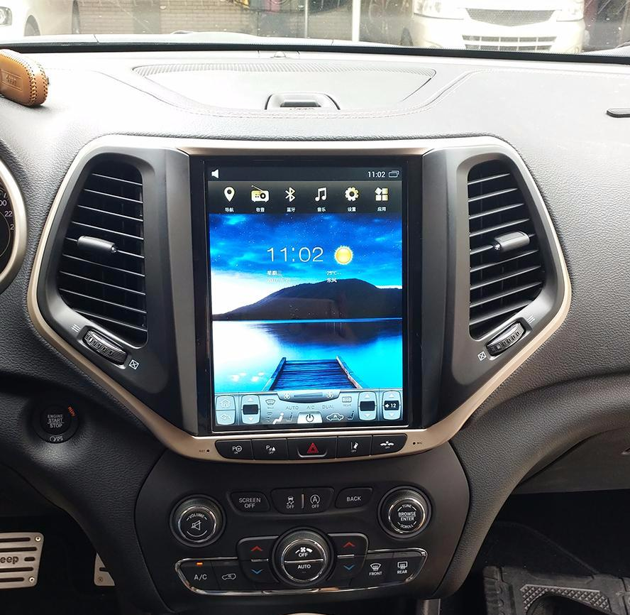 vertical screen android navigation radio  jeep cherokee  phoenix android radios