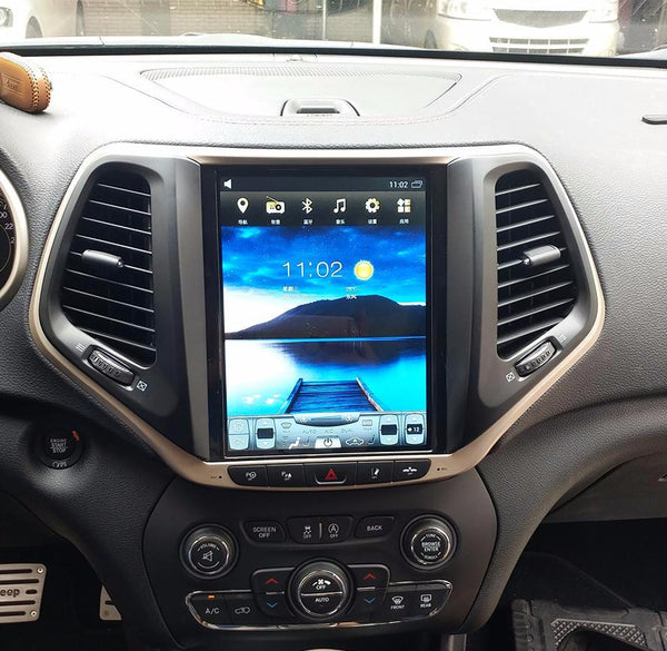 "10.4"" Vertical Screen Android Navigation Radio for Jeep Cherokee 2014 - 2019"
