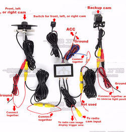 2 Channel RCA car camera automatic control module switch box