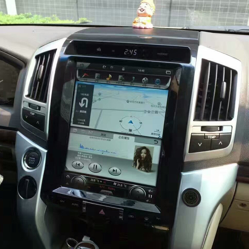 12 1 Quot Vertical Screen Android Navi Radio Toyota Land