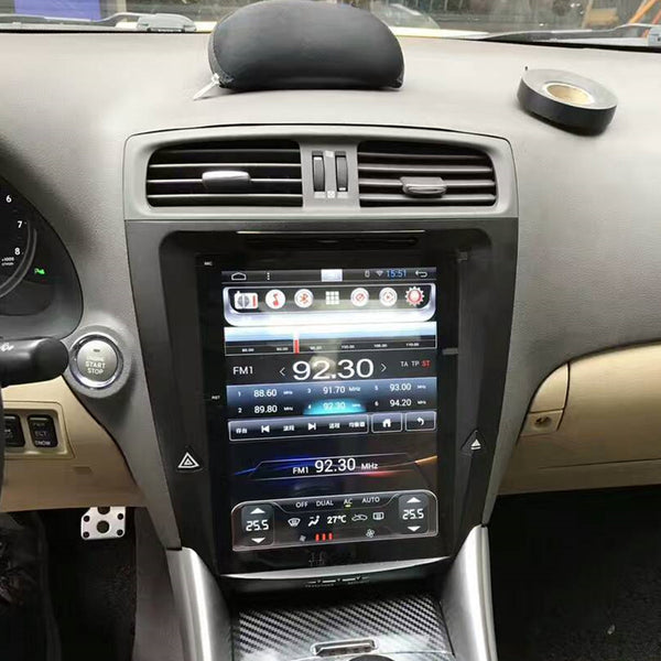 "Open Box 10.4"" Metal Trim Vertical Screen Android Navigation Radio for Lexus IS 250 IS 300 IS 350 2005 - 2012"