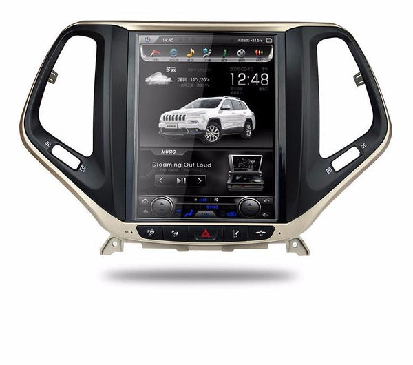 "10"" Vertical Screen Android Navigation Radio for Jeep Cherokee 2014 - 2019"