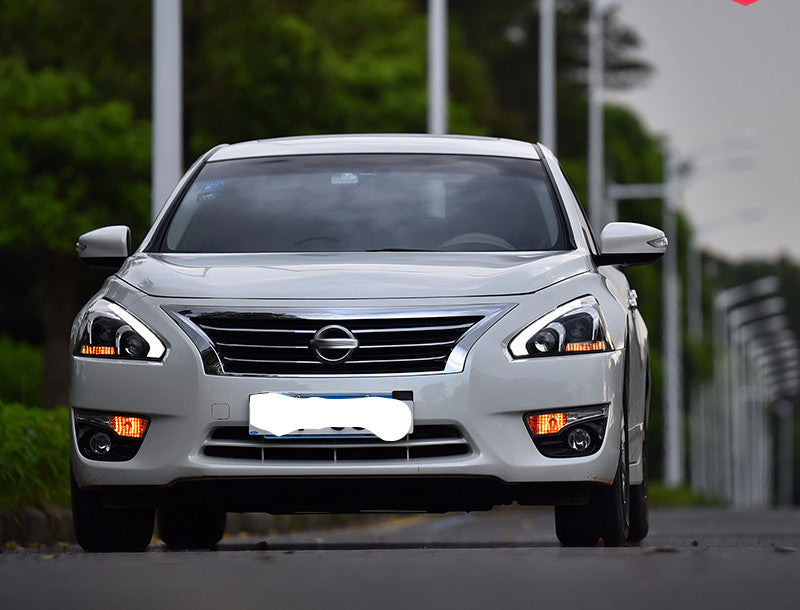 Pair Quad Projector Headlights with LED DRLs for Nissan ...