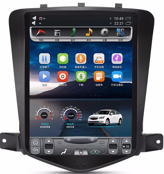 "[PX6 SIX-CORE] 10.4"" Vertical Screen Android Navigation Radio for Chevrolet Cruze 2009 - 2015"