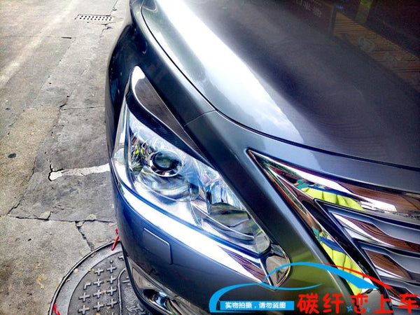 Pair of 2013 - 2015 NISSAN ALTIMA / TEANA headlight eyelids eye lids eyebrow Carbon Fiber style