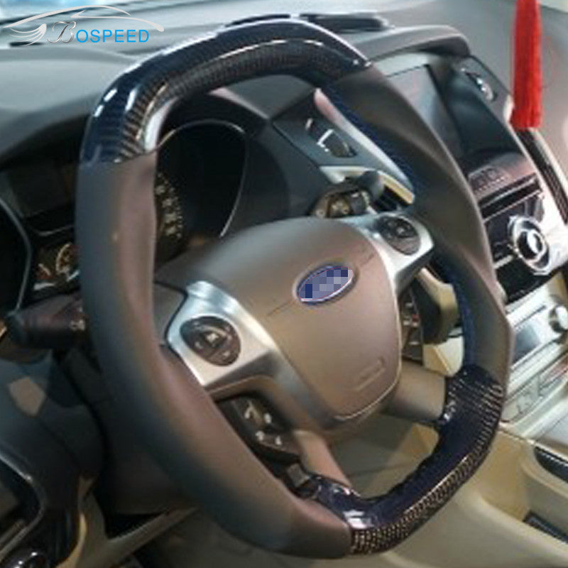 Custom Made Carbon Fiber Steering Wheel For 2011 2014