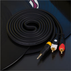 3.5mm to 2-Male RCA Adapter Cable AUX cable different length available