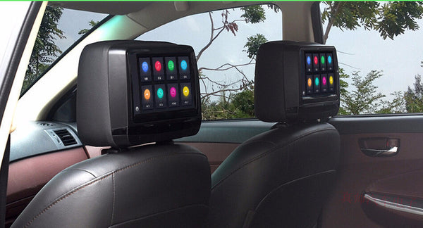 "9"" Touch Screen Headrest Car Headrest DVD Player Monitor with 1080p support HDMI Port"