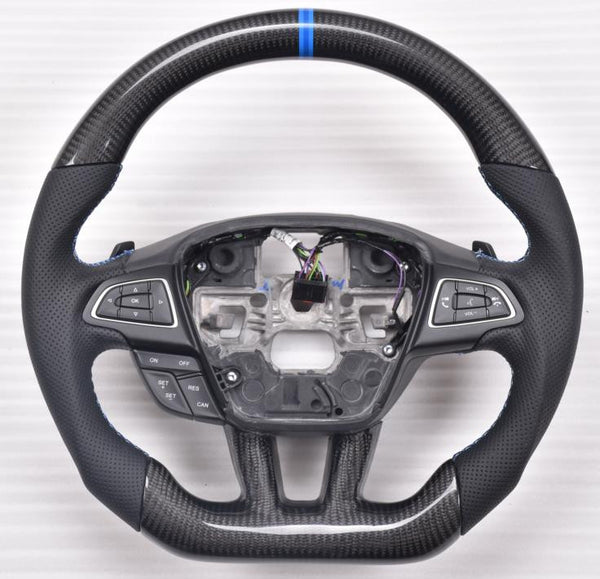 Custom-made Carbon fiber Steering Wheel for 2015 - 2017 Ford Focus Color & Design Customizable