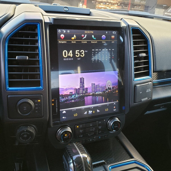 "12.1"" Android 7.1 Fast Boot Vertical Screen Navigation Radio for Ford F-150 F-250 F-350 2015 - 2019"