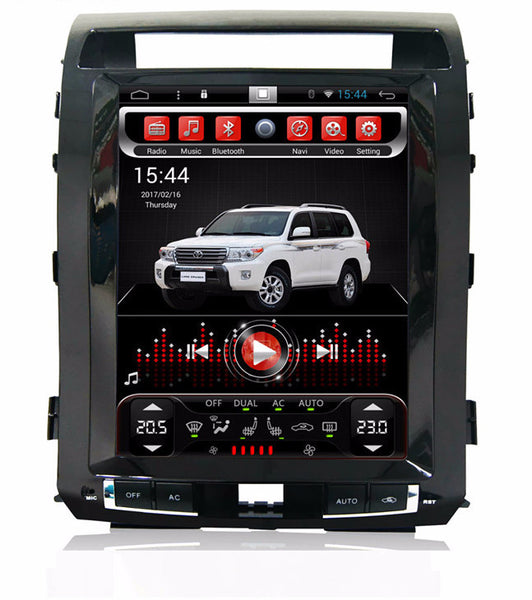 "12.1"" Vertical Screen Android Navi Radio for Toyota Land Cruiser 2008 - 2015"