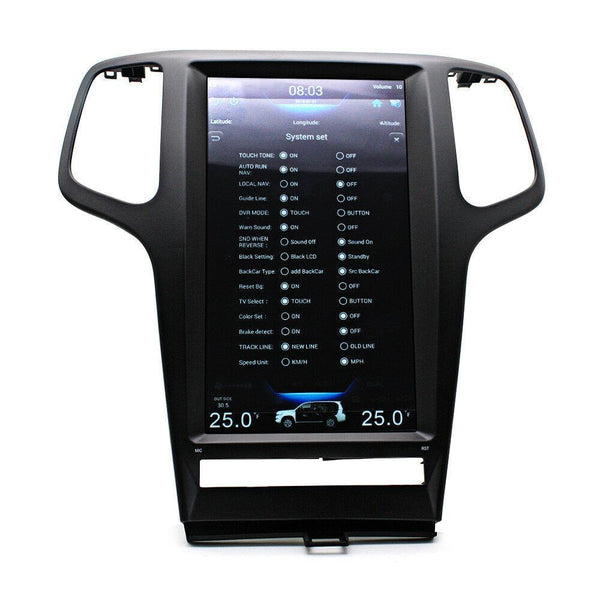 "[PX6 SIX-CORE] 13.3"" Vertical Screen Android 8.1 Navigation Radio for Jeep Grand Cherokee 2009 - 2013"