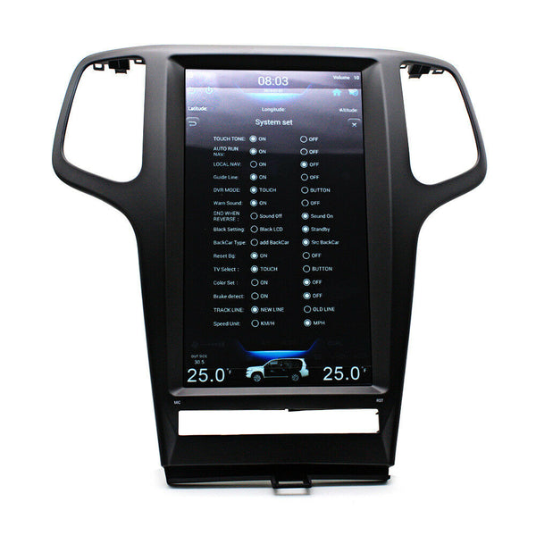 "13.3"" Vertical Screen Android Navigation Radio for Jeep Grand Cherokee 2009 - 2012"
