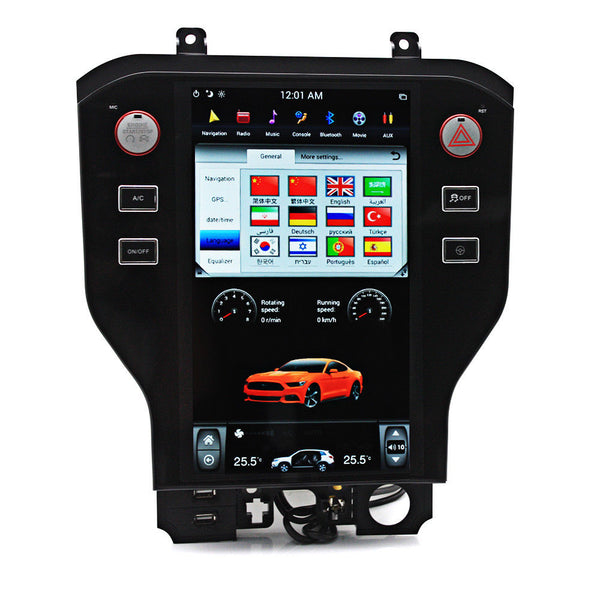 "11.8"" Vertical Screen Android Navigation Radio for Ford Mustang 2015 - 2018"