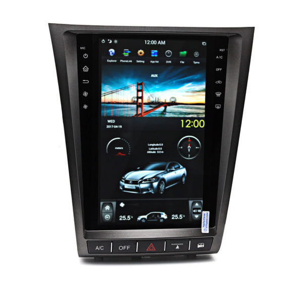 "11.8"" Vertical Screen Android Navigation Radio for Lexus GS 300 350 430 450h 460 2005 - 2011"