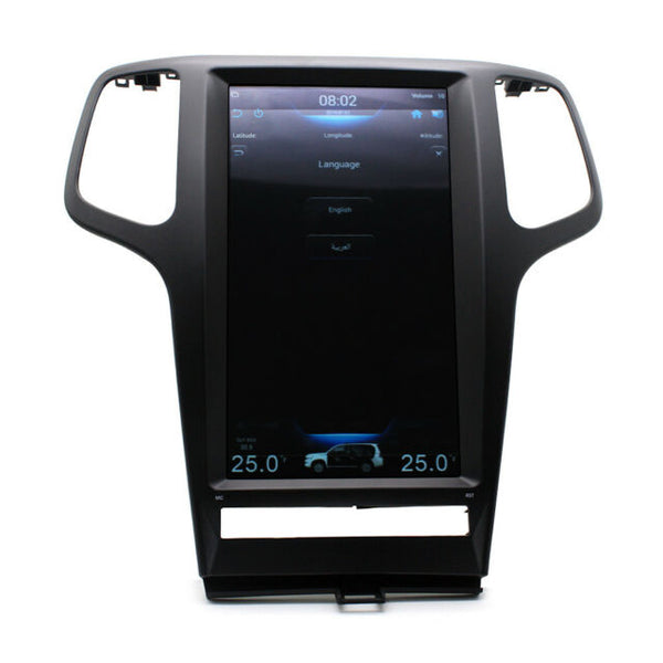 "13.3"" Vertical Screen Android Navigation Radio for Jeep Grand Cherokee 2009 - 2013"