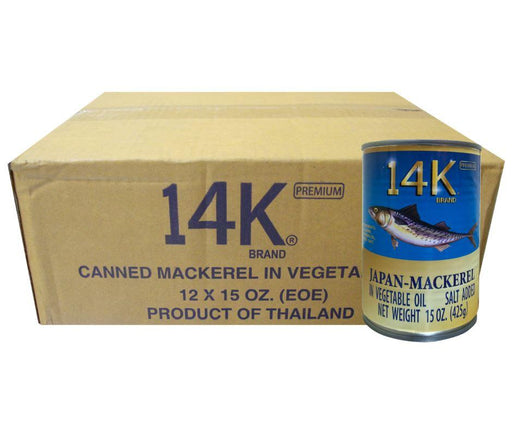 14k Mackerel Box (Natural Oil) 425g x12 - MADPACIFIC