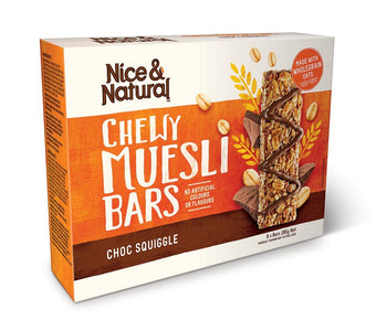 Nice and Natural Chewy Muesli Bars (6 bars) 180g