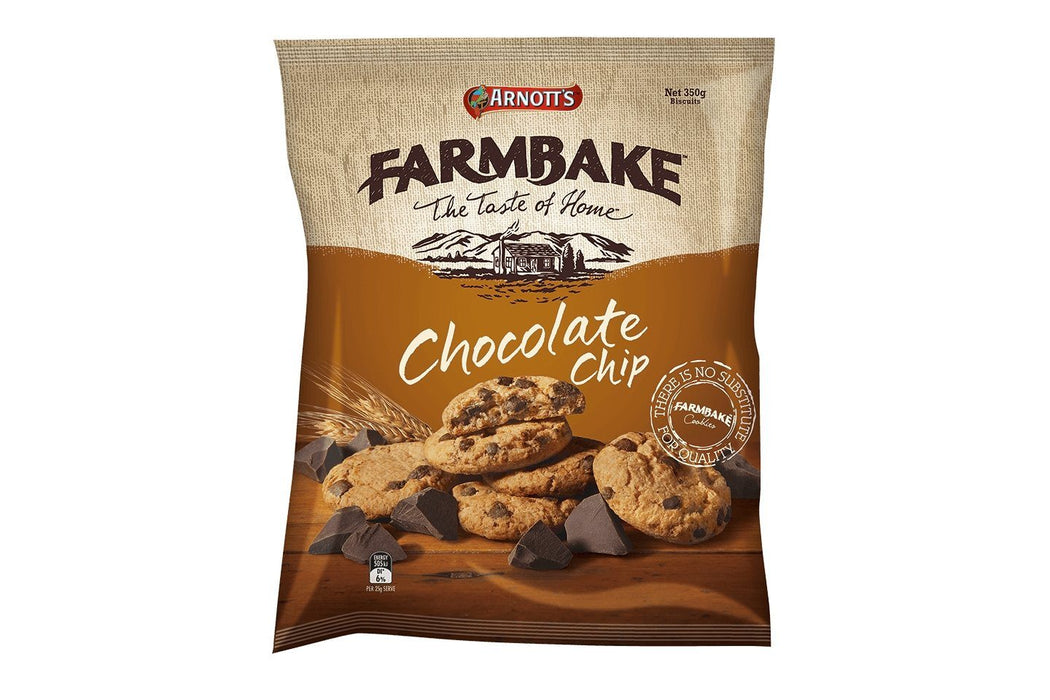 Arnotts Farmbake Choc Chip Cookies 350g - MADPACIFIC