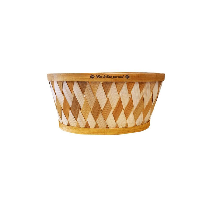Bamboo Basket (Oval Brown) - MADPACIFIC