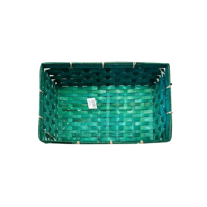 Bamboo Basket (Turquoise) - MADPACIFIC