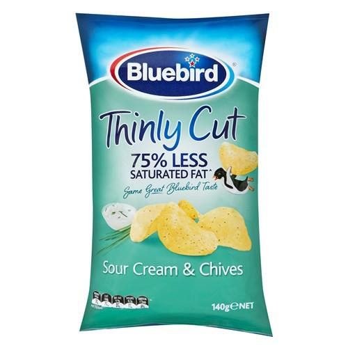 Bluebird Thinly Cut Potato Chips Sour Cream & Chives 150g - MADPACIFIC