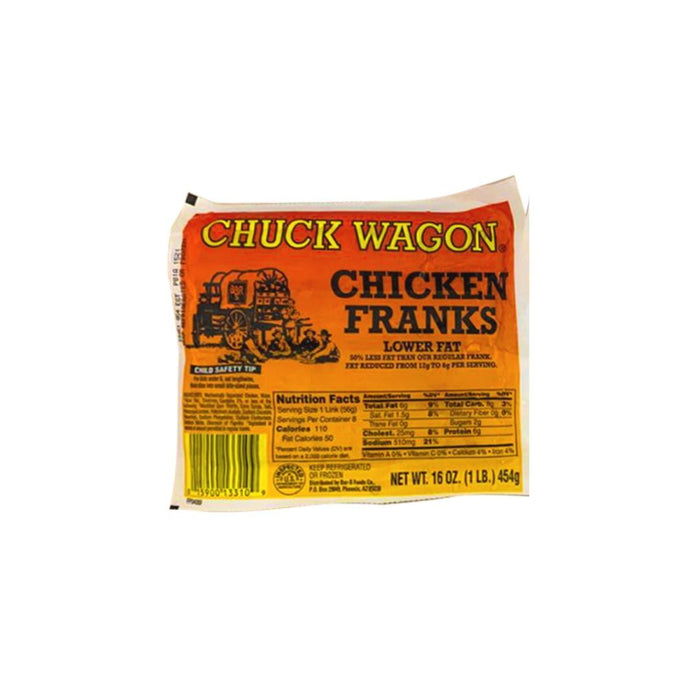 Chuck Wagon Chicken Franks LB - MADPACIFIC