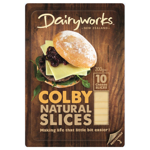 Dairyworks Colby Natural Slices 200g - MADPACIFIC
