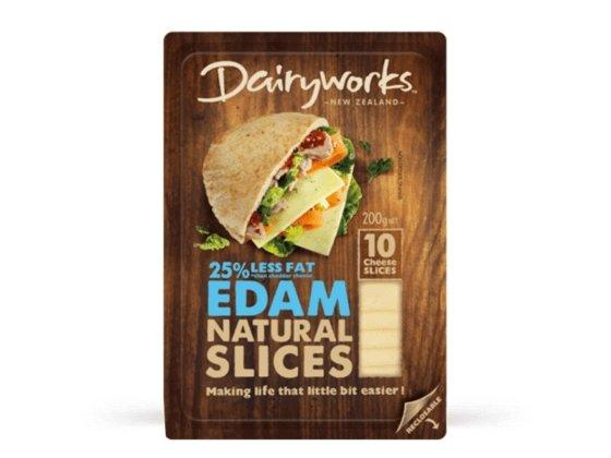 Dairyworks Edam Natural Slices 200g - MADPACIFIC