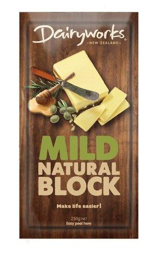 Dairyworks Mild Natural Block Cheese 250g - MADPACIFIC