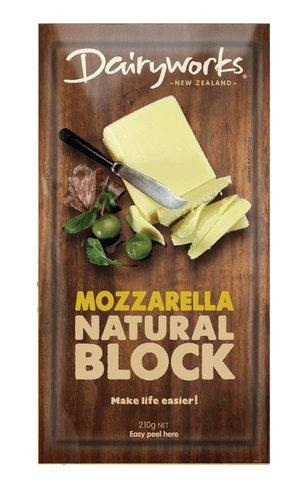 Dairyworks Mozarella Block Cheese 210g - MADPACIFIC