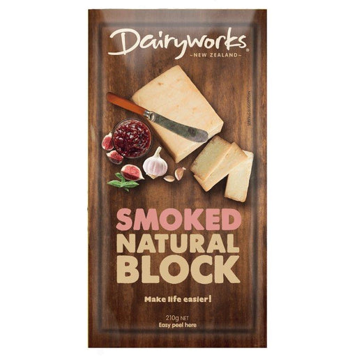 Dairyworks Smoked Block Cheese 210g - MADPACIFIC