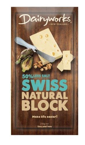 Dairyworks Swiss Natural Block Cheese 210g - MADPACIFIC