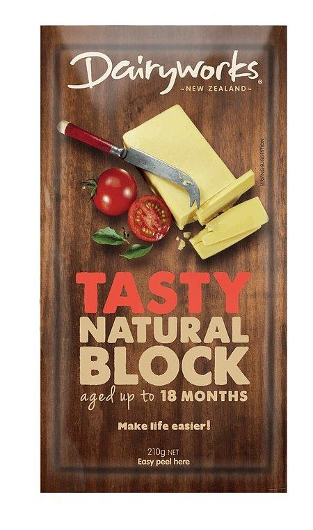 Dairyworks Tasty Natural Block Cheese 210g - MADPACIFIC